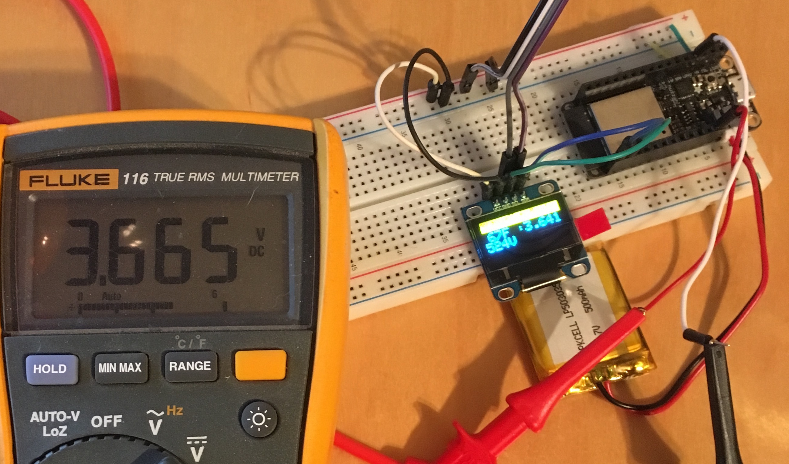 Cuddletech | Battery Monitoring on the Adafruit Huzzah32 ESP32 with